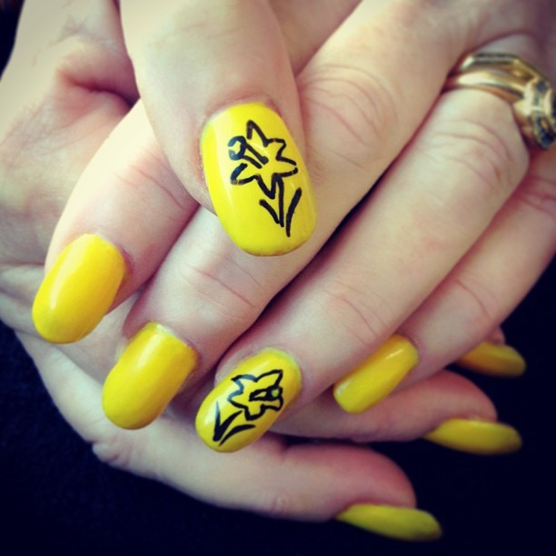 Yellow Nail Design Ideas 2015-2016, picture 15