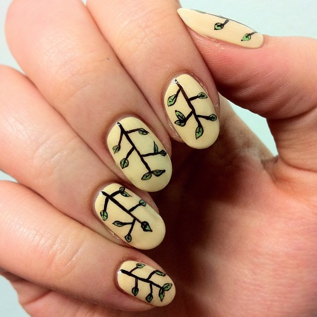 Yellow Nail Design Ideas 2015-2016, picture 16