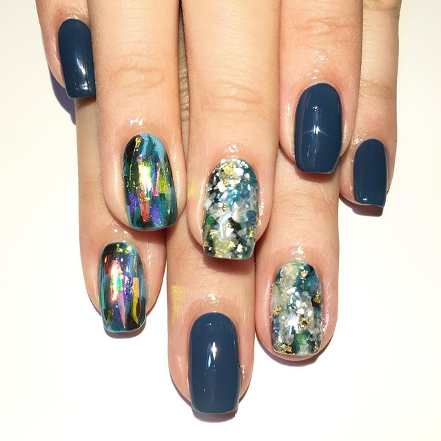Blue Nail Design Ideas 2015-2016, picture 25