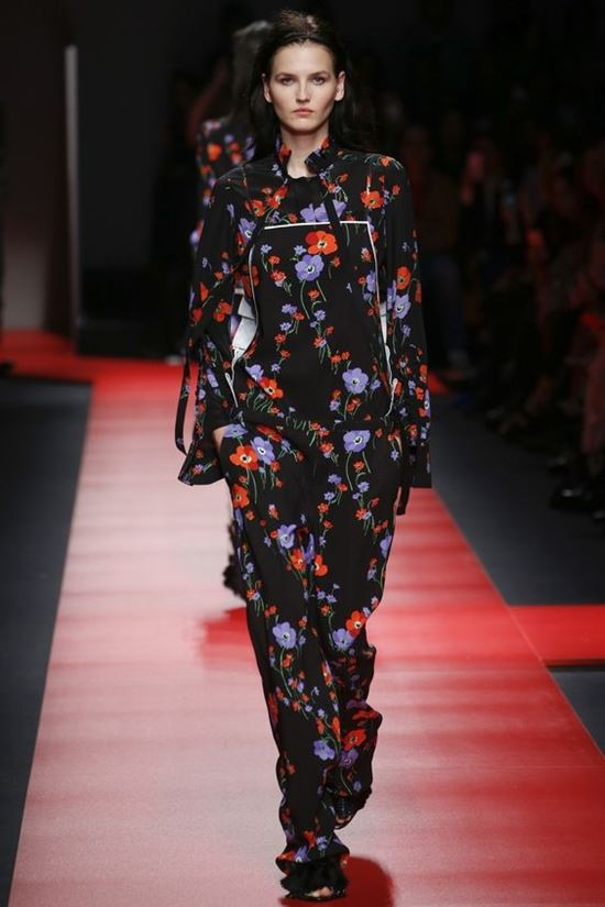 No. 21 black floral jumpsuit