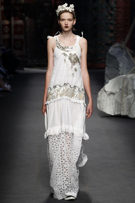 Antonio Marras long white perforated sundress