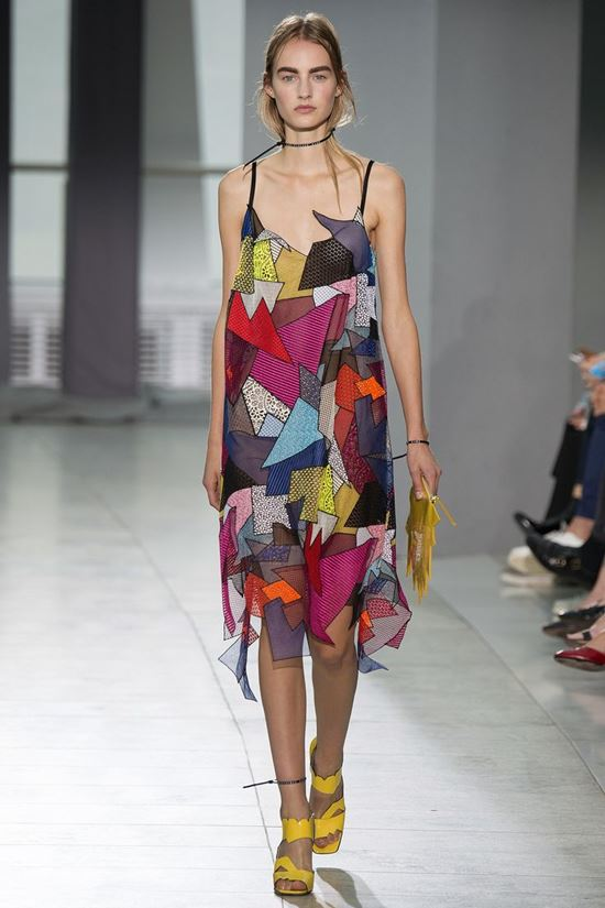 Christopher Kane multicolored patchwork sundress