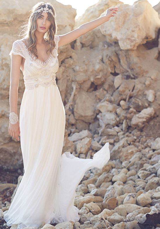 Anna Campbell beach wedding dresses 2016-2017