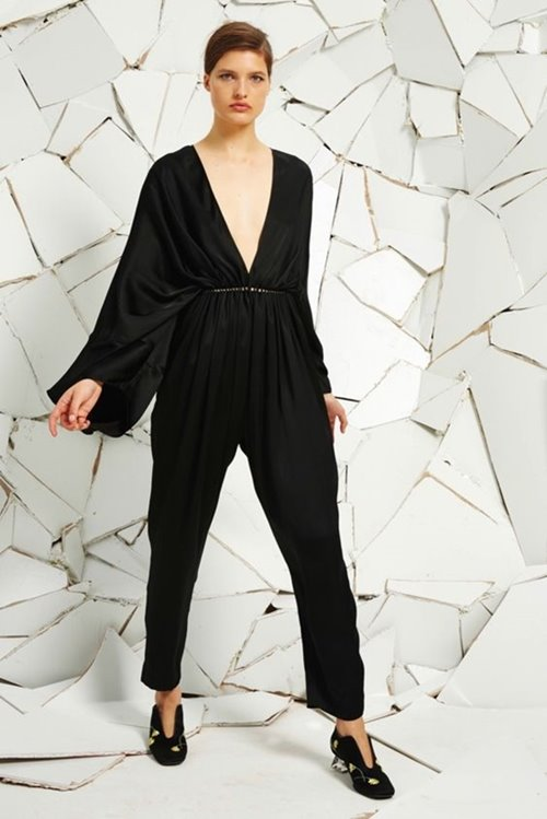 Stella McCartney long sleeve V-neck jumpsuit