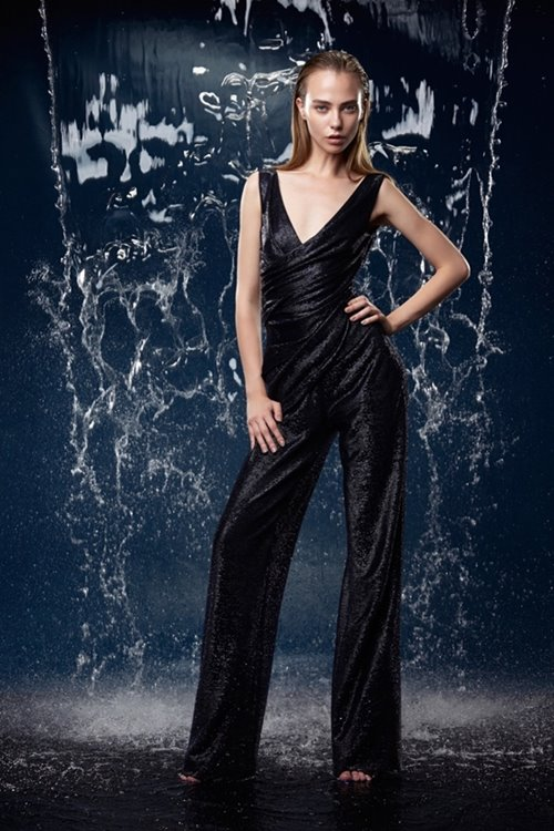 Talbot Runhof black party jumpsuit