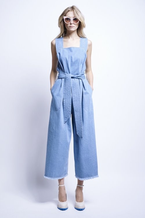 Karen Walker light blue culottes jumpsuit