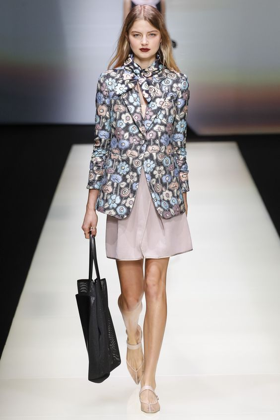 Emporio Armani  floral jacket fall-winter 2016-2017
