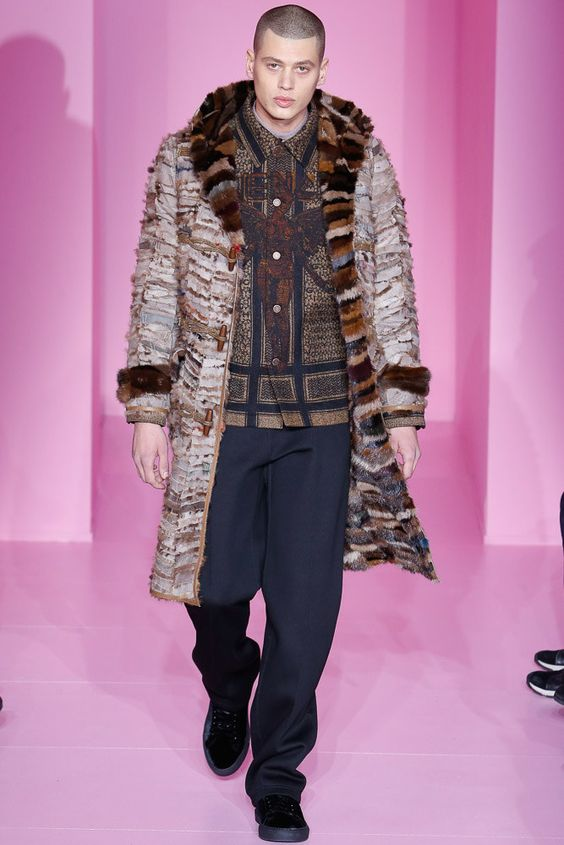 Givenchy bright mens fur coat