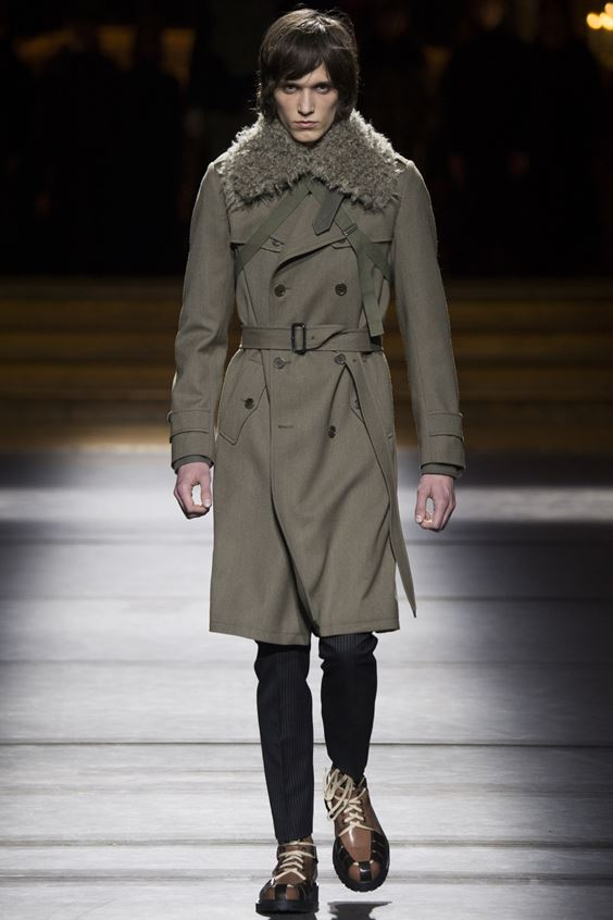 Dries Van Noten men's trench coat