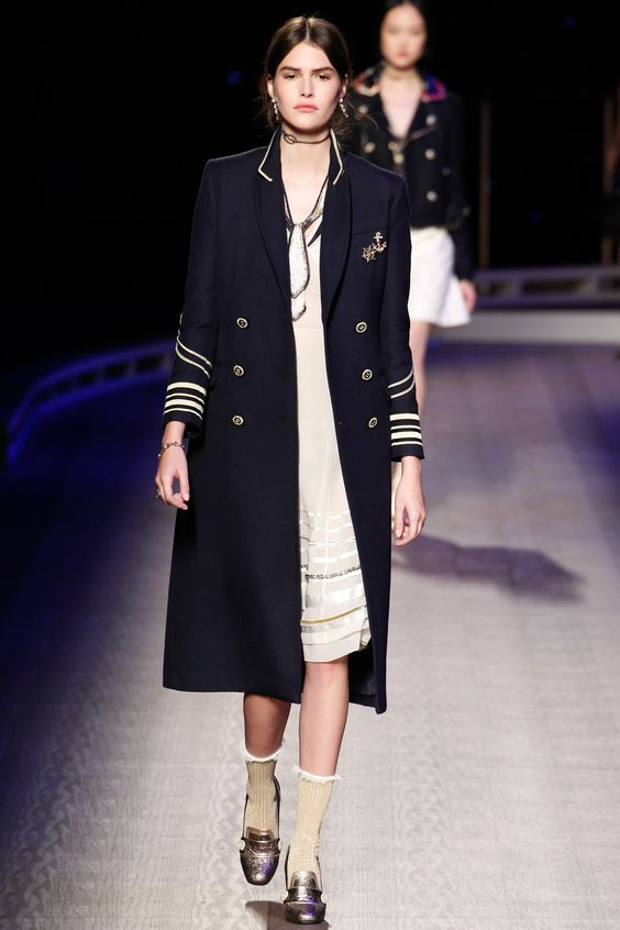 Tommy Hilfiger navy officer coat
