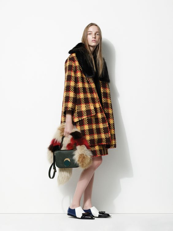 Marni yellow plaid coat