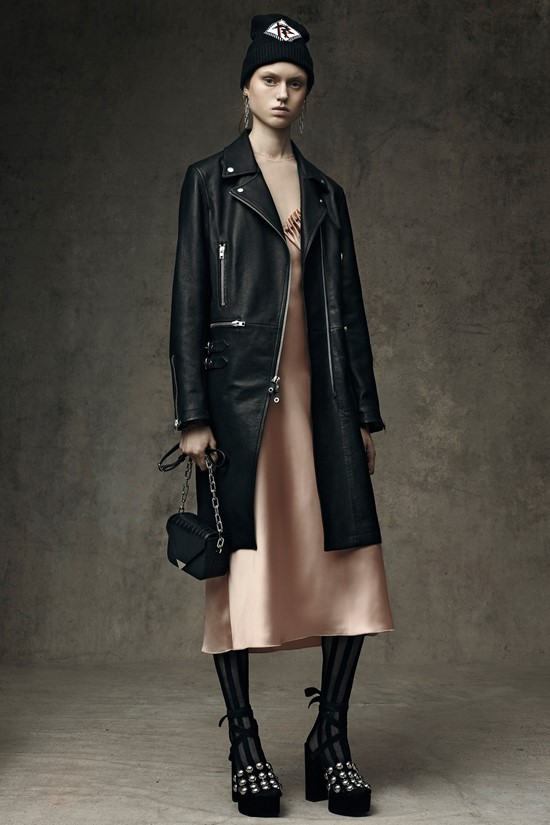 Alexander Wang black leather coat