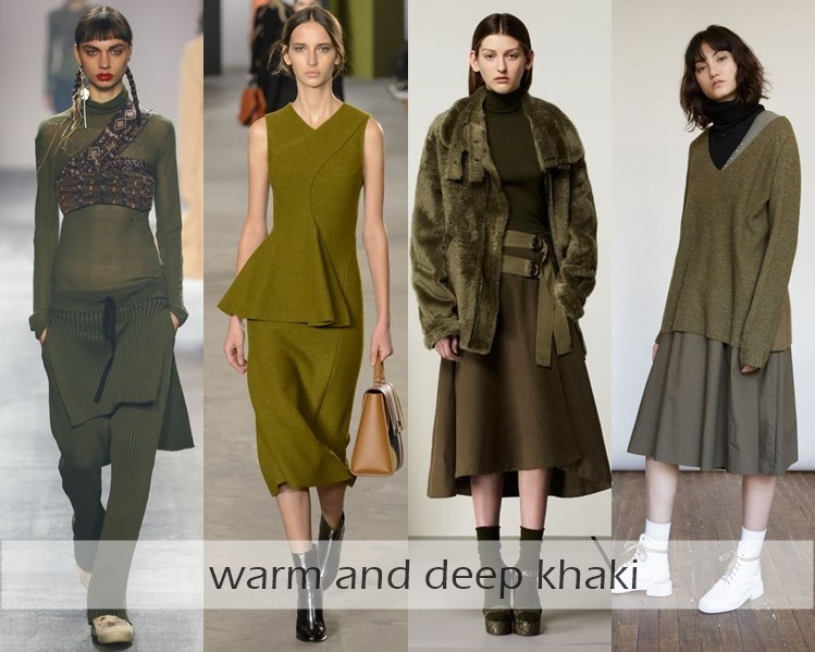 Clothing Colors Fall-Winter 2016-2017 Fashion Trends: khaki