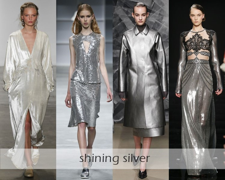 Clothing Colors Fall-Winter 2016-2017 Fashion Trends : silver