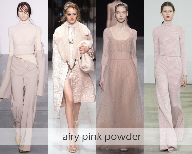 Clothing Colors Fall-Winter 2016-2017 Fashion Trends: pastel pink
