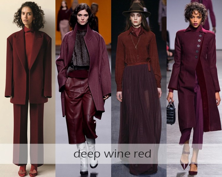 Clothing Colors Fall-Winter 2016-2017 Fashion Trends: burgundy wine red