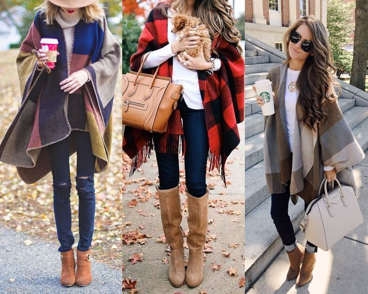 poncho fashion outfits