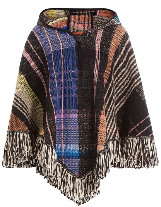 fringe hooded poncho 2017