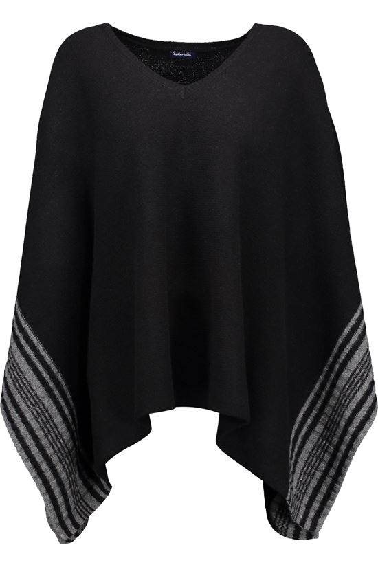 simple black poncho 2017