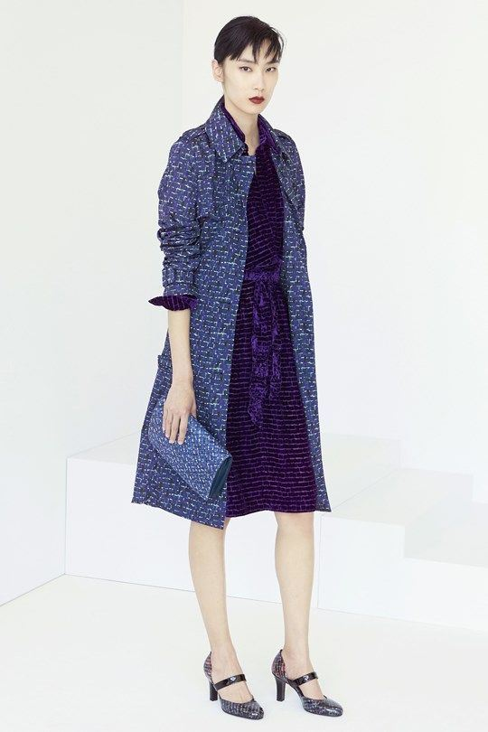 knee length blue printed summer coat