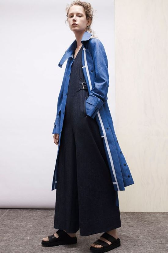 simple blue coat