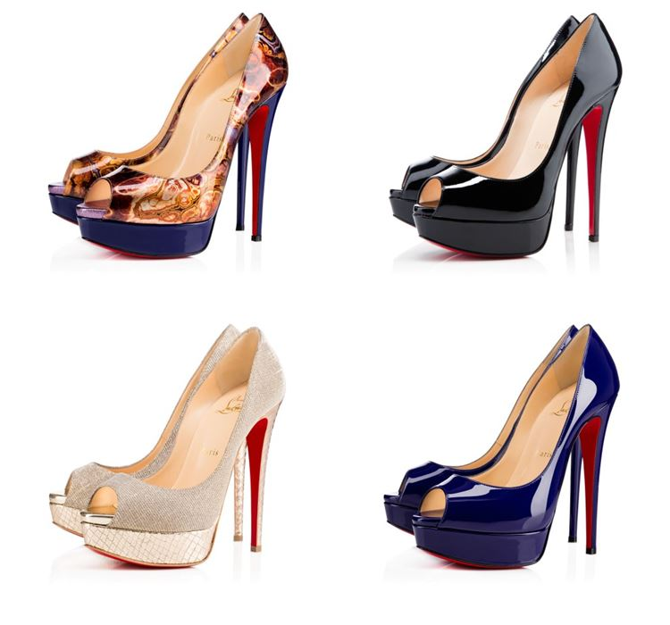 Christian Louboutin Collection Spring/Summer 2017: open toe patent leather high heel pumps