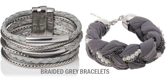 grey braided bracelets