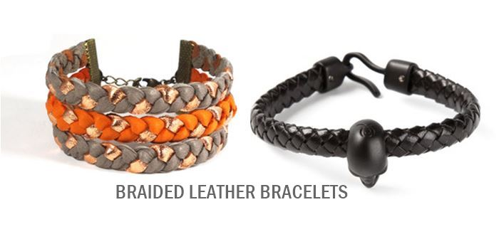 leather braided bracelets