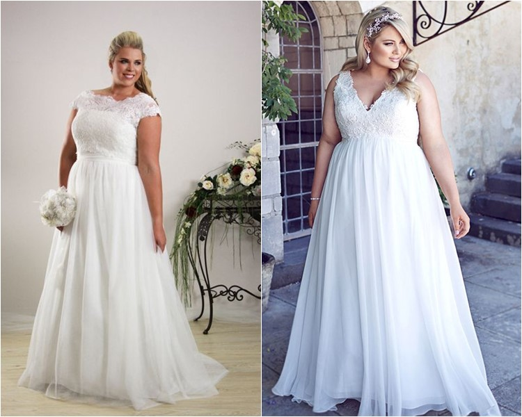 Wedding Dress For Plus Size Apple Shape Discount Wedding