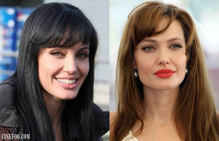 Angelina Jolie with bangs