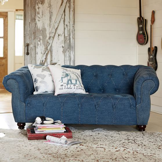 Denim Sofa Interior Design Ideas: barocco