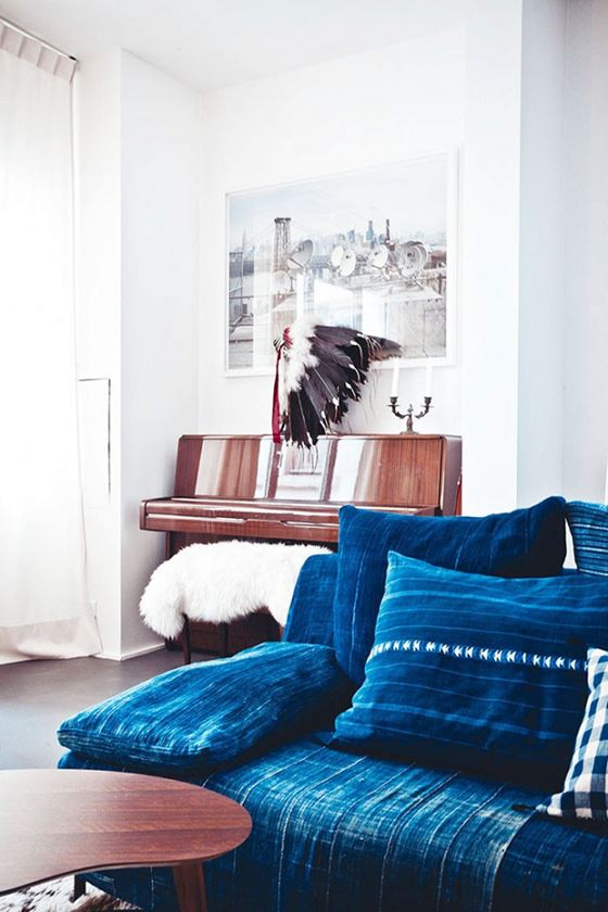 Denim Sofa Interior Design Ideas: indigo jeans