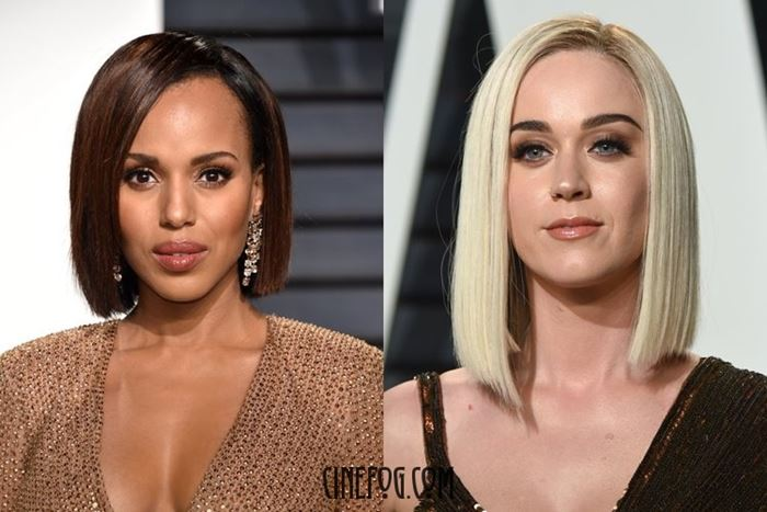 Kerry Washington and Katy Perry makeup and hairstyles