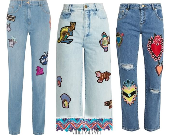 jeans with appliques 2017