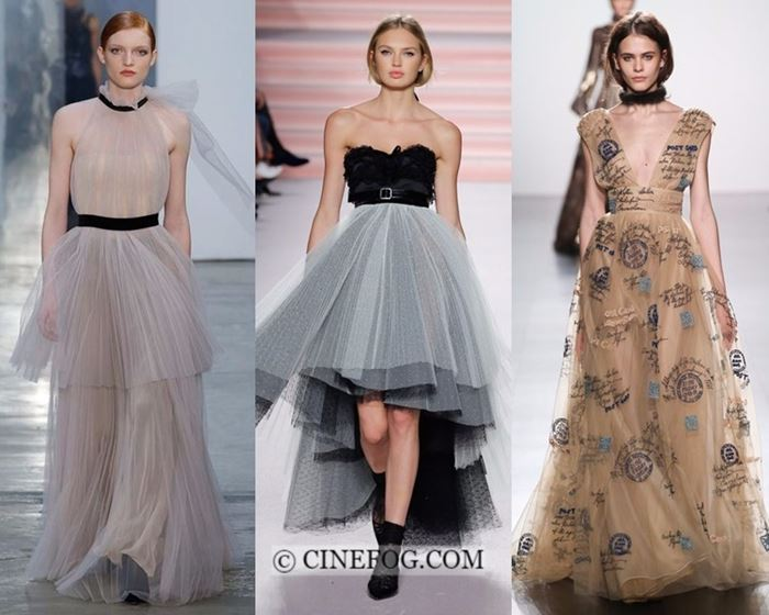 Dresses Fall-Winter 2017-2018 Fashion Trends: Tulle evening dresses