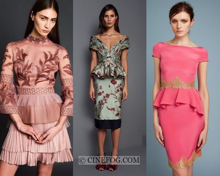 Dresses Fall-Winter 2017-2018 Fashion Trends: Short cocktail peplum dresses