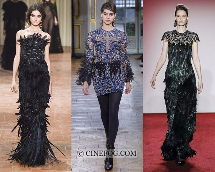 Dresses Fall-Winter 2017-2018 Fashion Trends: Evening and cocktail dresses with feathers