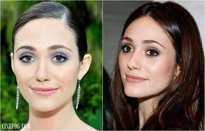 Emmy Rossum makeup for brown eyes