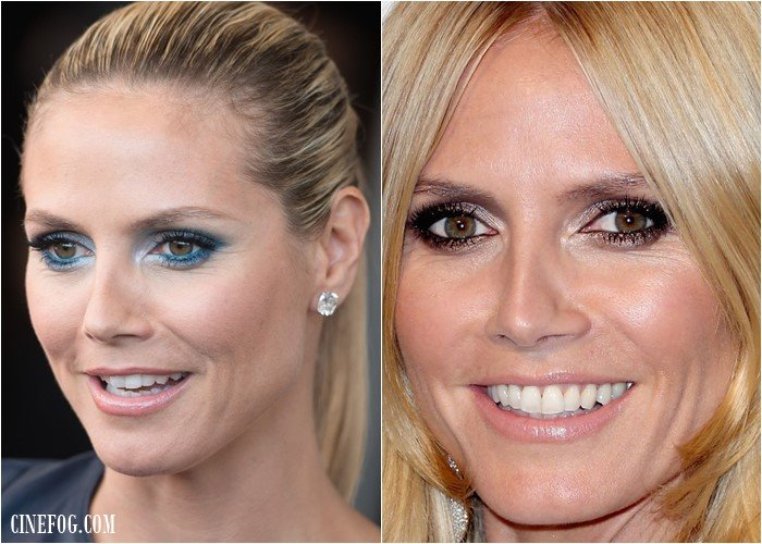 Eyeshadow For Hazel Eyes: Heidi Klum