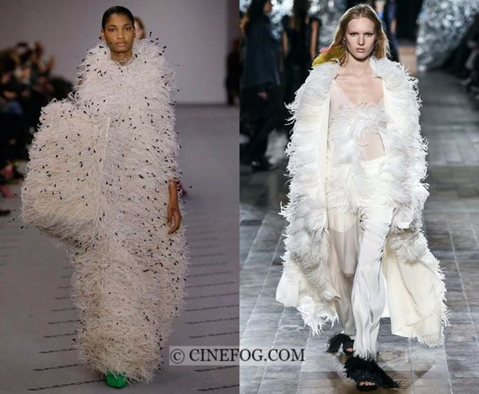 Fall-Winter 2017-2018 Fashion Trends: white feather clothing