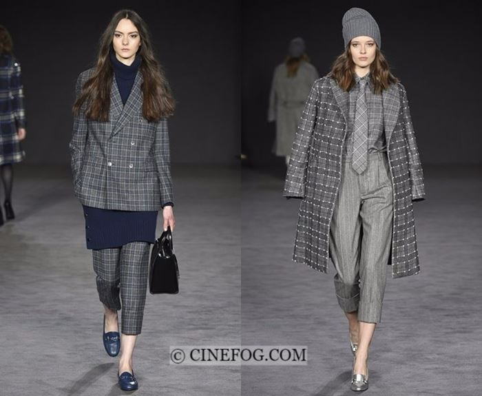 Fall-Winter 2017-2018 Fashion Trends: plaid gray outfits