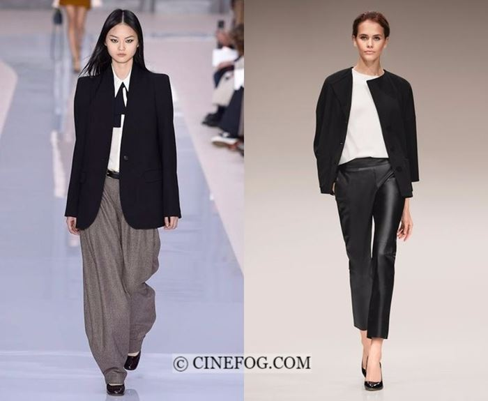 Fall-Winter 2017-2018 Fashion Trends: elegant black blazers and pants