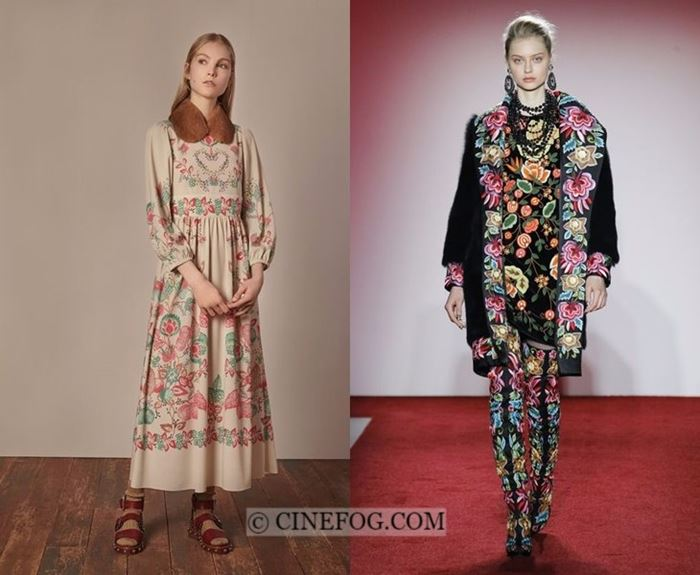 Fall-Winter 2017-2018 Fashion Trends: floral ethnic dresses