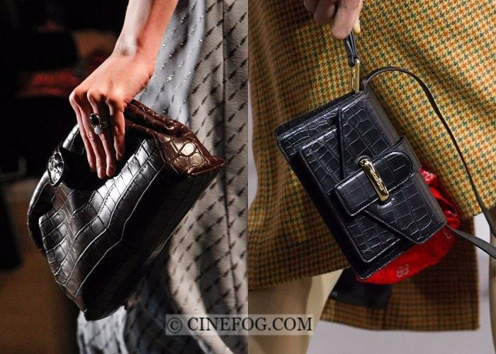 Handbags Fall-Winter 2017-2018 Fashion Trends:  black and brown crocodile leather