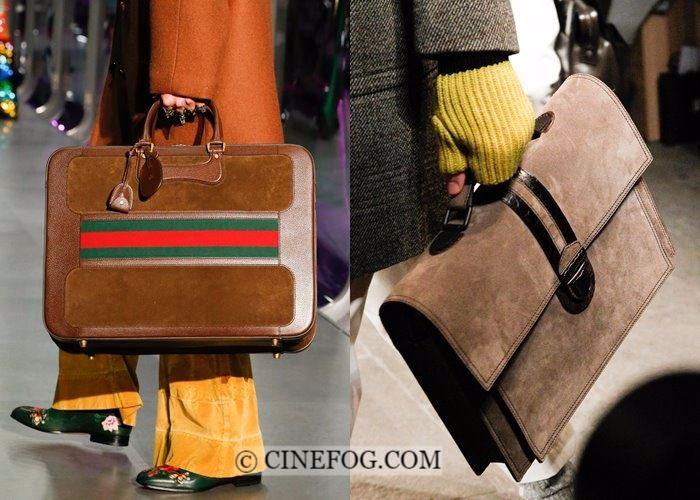 Handbags Fall-Winter 2017-2018 Fashion Trends:  brown suede
