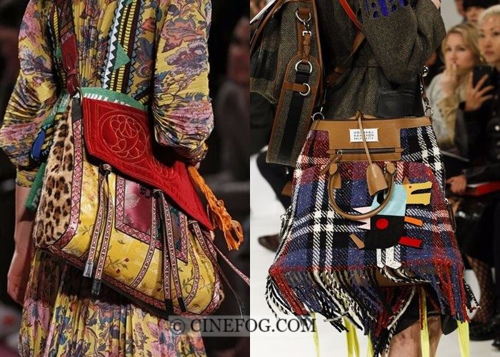 Handbags Fall-Winter 2017-2018 Fashion Trends: fringe and patches
