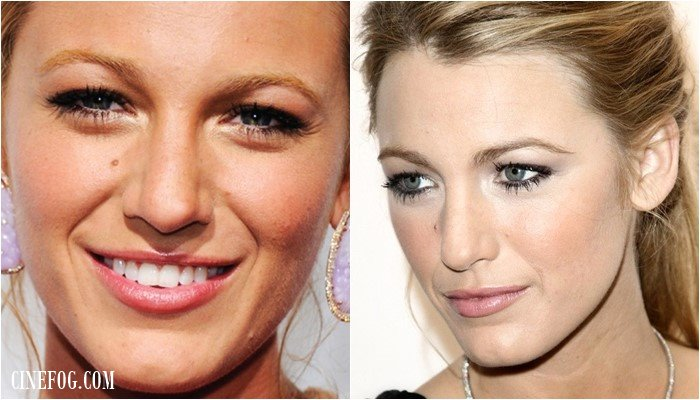 Blake Lively makeup for hooded eyes