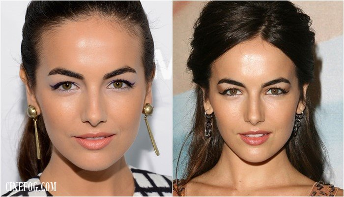 Camilla Belle makeup for hooded eyes