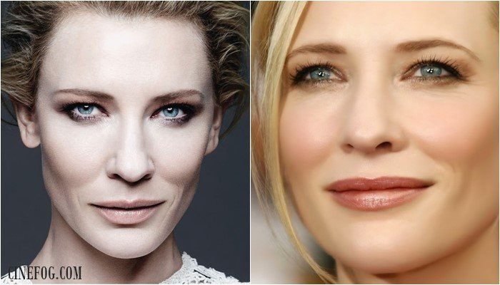Cate Blanchett makeup for swollen eyelids