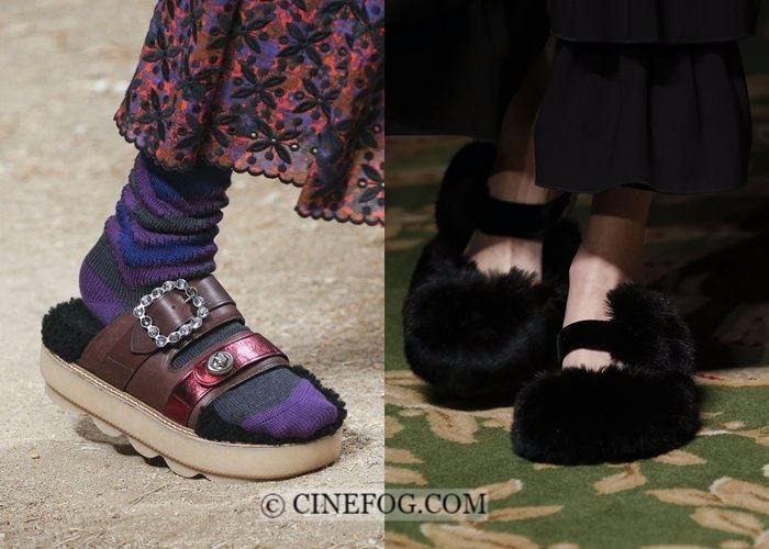 Shoes Fall-Winter 2017-2018 Fashion Trends: fur slippers